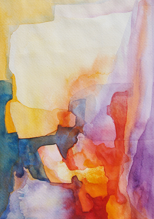 Watercolour 'Searching for Harmonies'