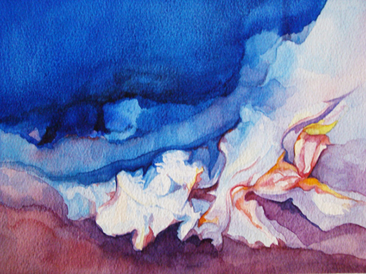 Watercolour 'Shells by the Sea'